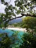 Hidden world. Montenegro sea summer wiew beauty blue Royalty Free Stock Photography