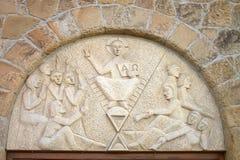 Hiddenhausen kośćiół protestancki Stephanus Przecinający czerep architektury fasada Niemcy fotografia royalty free