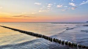 Hiddensee ocean landscape at evening Stock Images