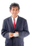 Hidding money Stock Image