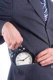 Hide alarm clock royalty free stock photos