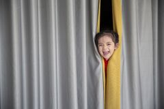 Hide And Seek At Home Royalty Free Stock Photos