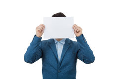 Hide face expression stock photography