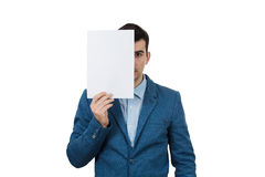 Hide face expression Royalty Free Stock Image
