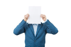 Hide face expression royalty free stock photos