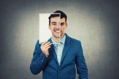Hide face expression stock photos