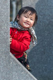 Hide and seek Chinese girl Stock Photos