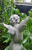 Hide and seek cupid back in secret green garden Royalty Free Stock Photography