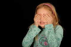 Hide and seek girl Royalty Free Stock Photography
