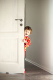 Hide-and-seek player royalty free stock photo