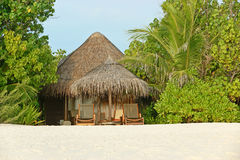 Hideaway on tropical beach Royalty Free Stock Photos
