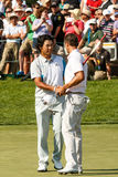 Hideki Matsuyama and Adam Scott at the Memorial Tournament Royalty Free Stock Image