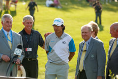Hideki Matsuyama and Jack Nicklaus at the Memorial Tournament Stock Photos
