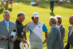 Hideki Matsuyama and Jack Nicklaus at the Memorial Tournament Royalty Free Stock Photo