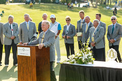 Hideki Matsuyama and Jack Nicklaus at the Memorial Tournament Royalty Free Stock Photos