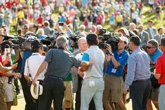 Hideki Matsuyama and Jack Nicklaus at the Memorial Tournament Royalty Free Stock Images