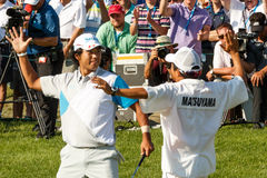 Hideki Matsuyama at the Memorial Tournament Stock Images
