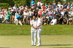 Hideki Matsuyama und Adam Scott am Erinnerungsturnier Lizenzfreies Stockfoto