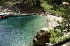 Hiden beach. Little beach  on majorca island Stock Image