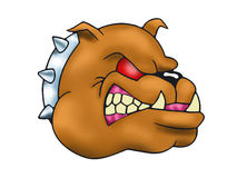 Hideous brown Bulldog head Royalty Free Stock Photo