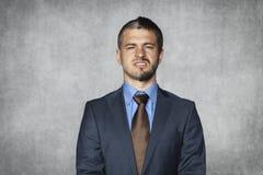 Hideous face businessman Stock Image