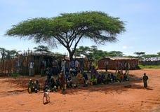 HIDILOLA ETIOPIEN - NOVENBER 26, 2008: Bosättning. Obekant v Royaltyfri Foto