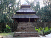 Hidimba devi temple. Front view of Hidimba devi temple royalty free stock photo