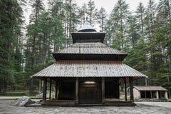 Hidimda Devi Temple. In Manali, Himachal Pradesh, India Royalty Free Stock Photo