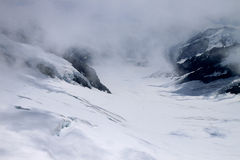 Hiding Aletsch Glacier Royalty Free Stock Photo
