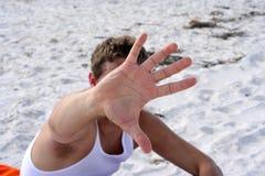 Hiding At the Beach Royalty Free Stock Photos