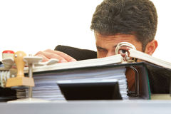 Hiding behind files Royalty Free Stock Image
