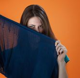 Hiding Behind a Sheet Royalty Free Stock Photos