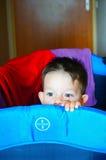 Hiding boy Stock Image