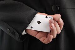 Hiding card Royalty Free Stock Photo