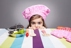 Hiding chef Royalty Free Stock Images