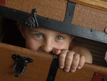 Hiding child Royalty Free Stock Images