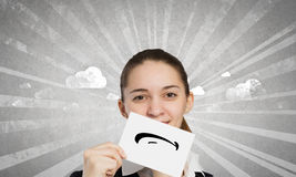 Hiding emotions Stock Photos