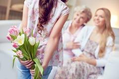 Hiding flowers Stock Image