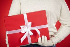 Hiding gift Royalty Free Stock Images