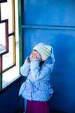 Hiding girl Royalty Free Stock Photo