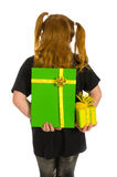 Hiding green luxury presents Royalty Free Stock Images