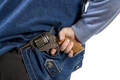 Hiding gun Stock Image