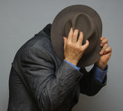 Hiding man Stock Photos