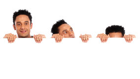 Hiding and peeking banner add Stock Images