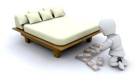 Hiding savings Stock Photo