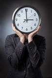 Hiding the time Royalty Free Stock Images