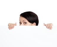Hiding woman Stock Image