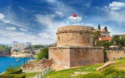 Hidirlik Tower in Antalya, Turkey Royalty Free Stock Images