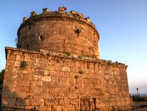 Hidirlik Tower, Antalya, Turkey Royalty Free Stock Photo