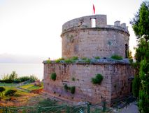 Hidirlik Tower, Antalya, Turkey Stock Photos